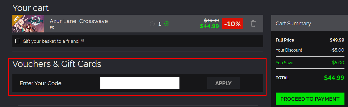 How do I use my Green Man Gaming discount code?