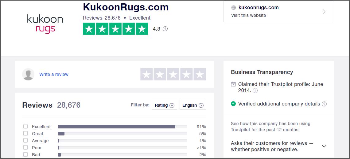 Kukoon Rugs Reviews