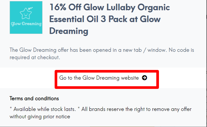 Glow Dreaming NZ Promo Code LC Site