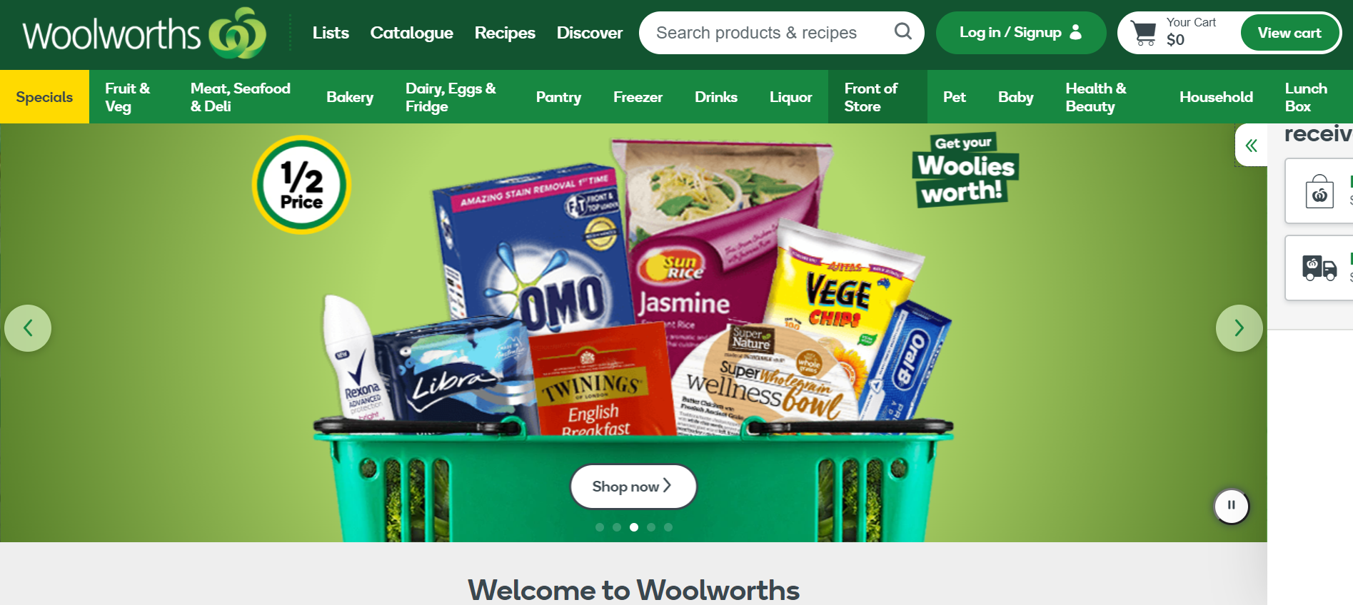 About Woolworths