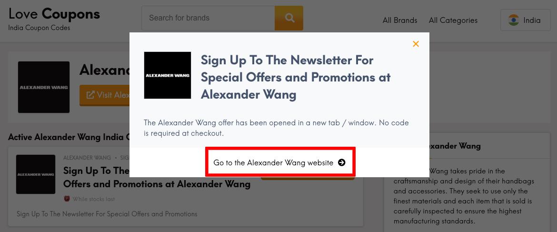 Alexander Wang IN Get Code