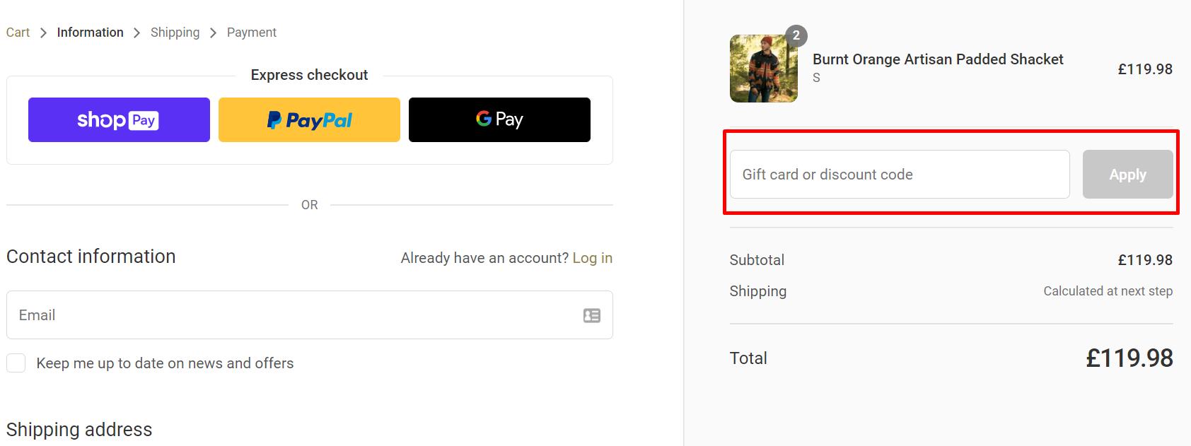 How do I use my Gandys discount code?