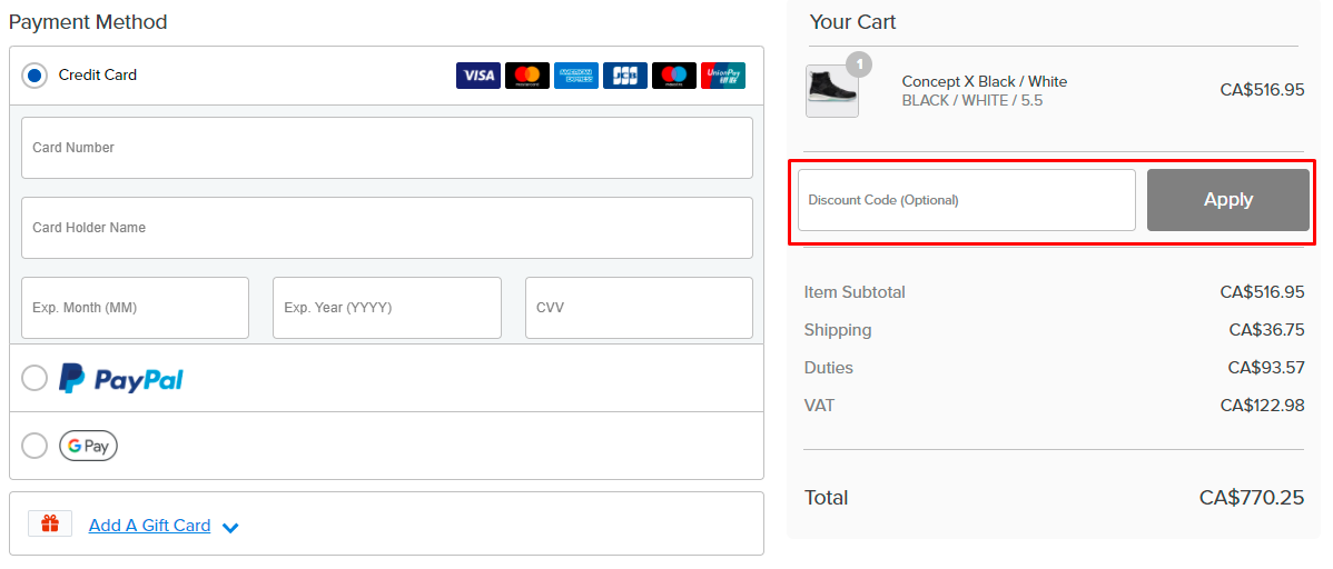 How do I use my Athletic Propulsion Labs discount code?