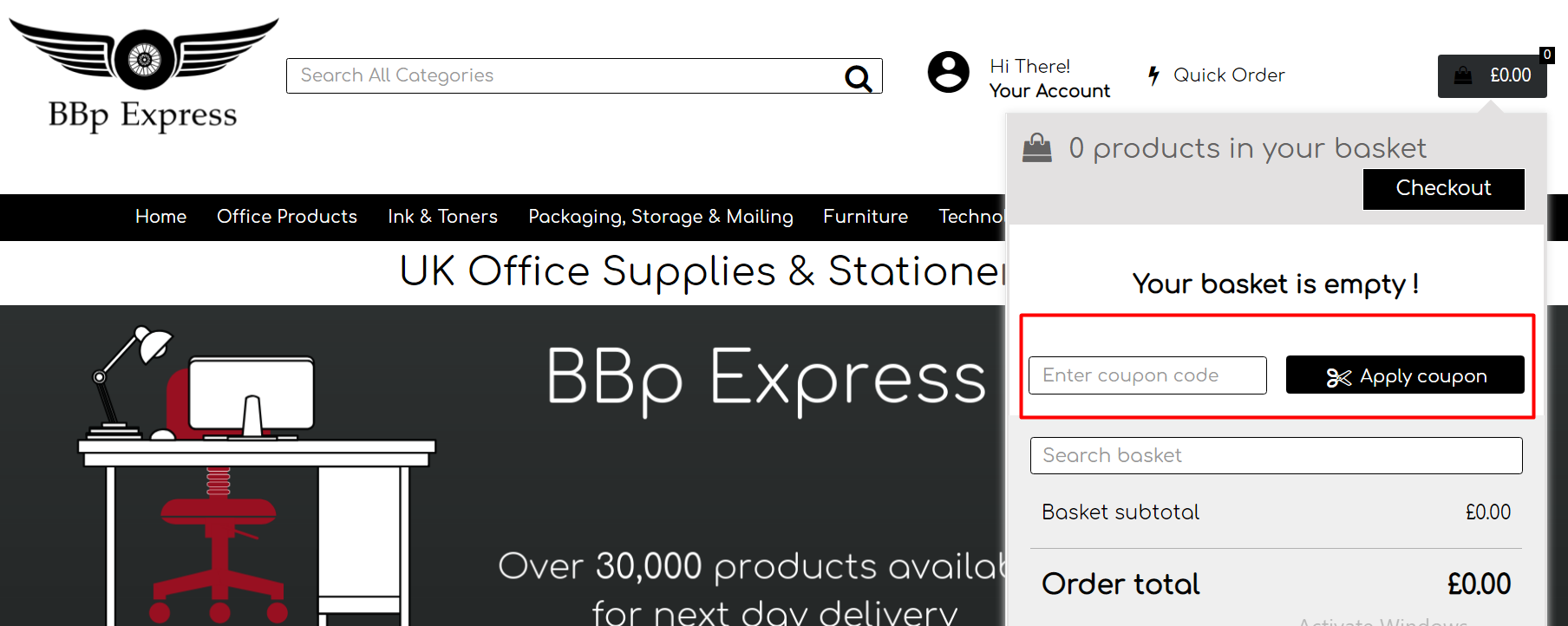 How do I use my BBp Express discount code?