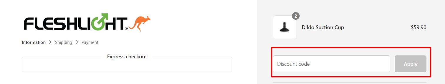 How do I use my FLESHLIGHT discount code?