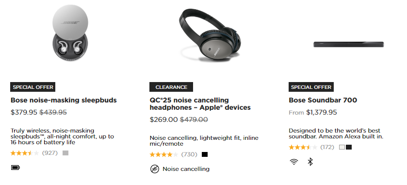Bose Special Offers