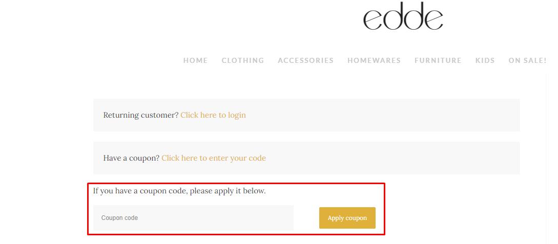 How do I use my Edde coupon code?