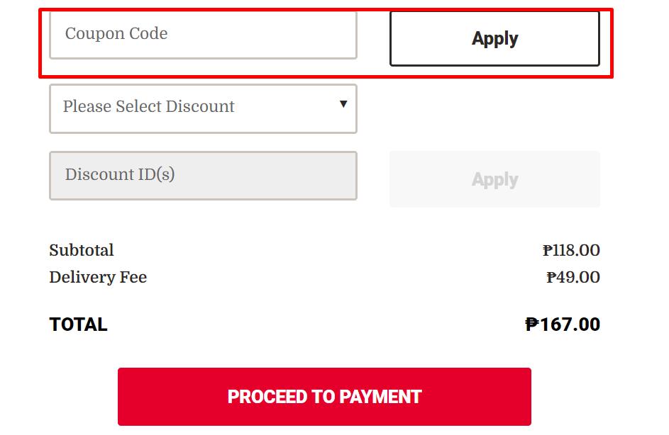 How do I use my KFC coupon code?