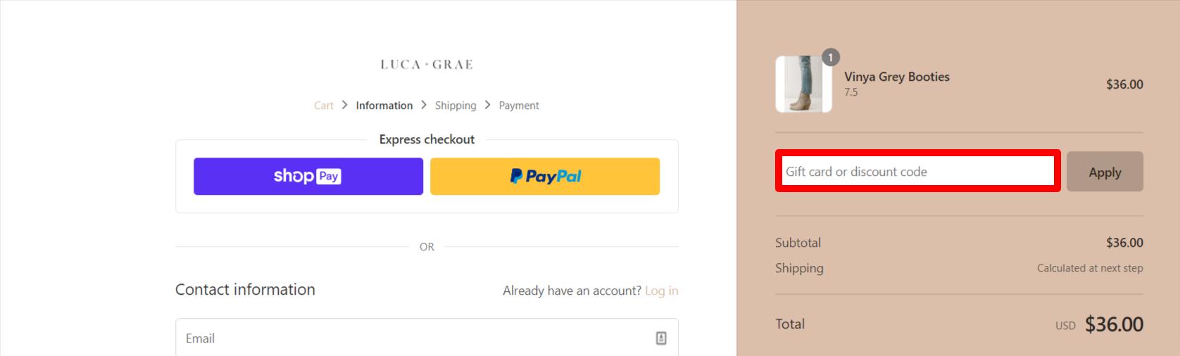 Luca + Grae Discount Code