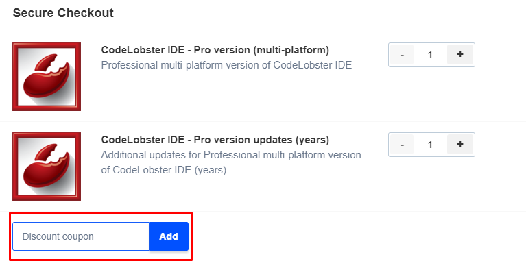 How do I use my Codelobster discount code?