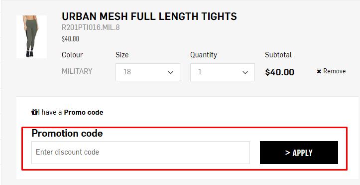 How do I use my Rockwear promotion code?