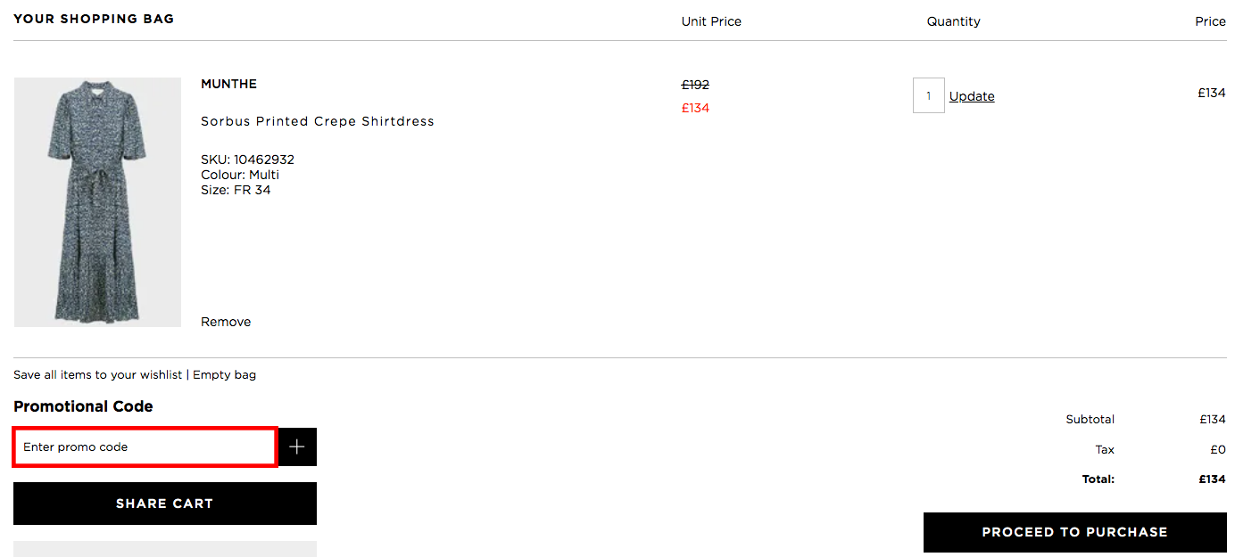 Boutique 1 UK Promo Code