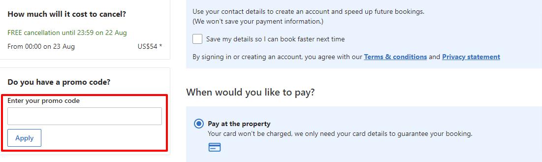 Checkout Booking.com