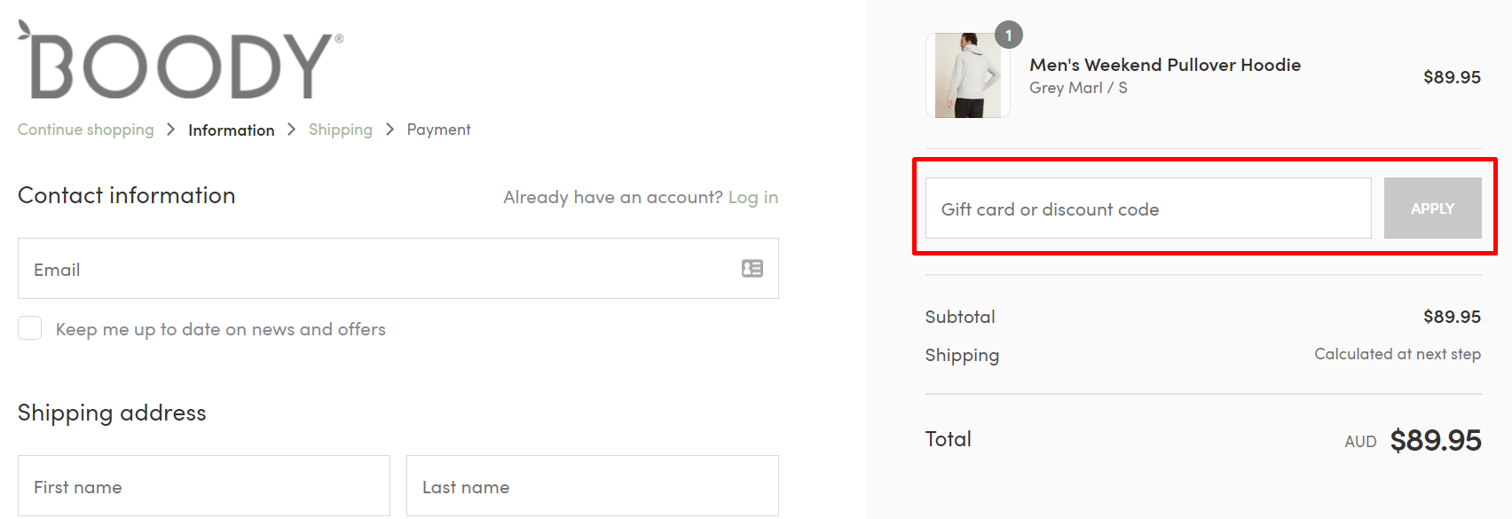 How do I use my Boody Eco Wear discount code?