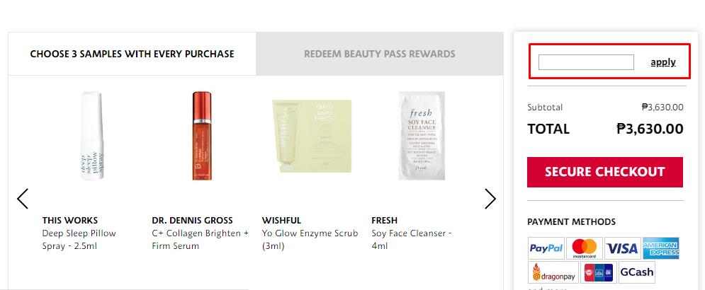 How do I use my Sephora promo code?