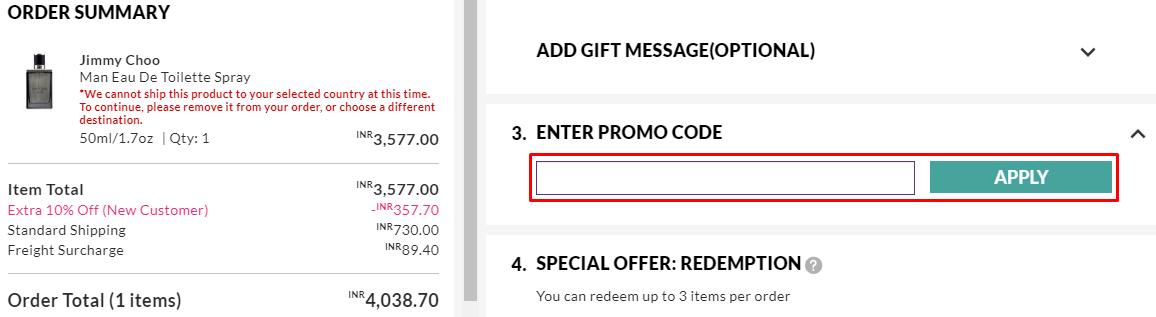 How do I use my Strawberrynet promo code?