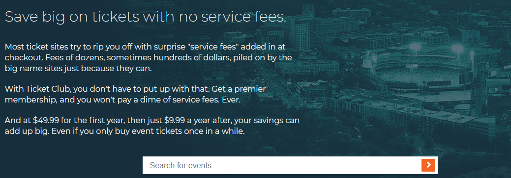 About Ticket ClubHomepage