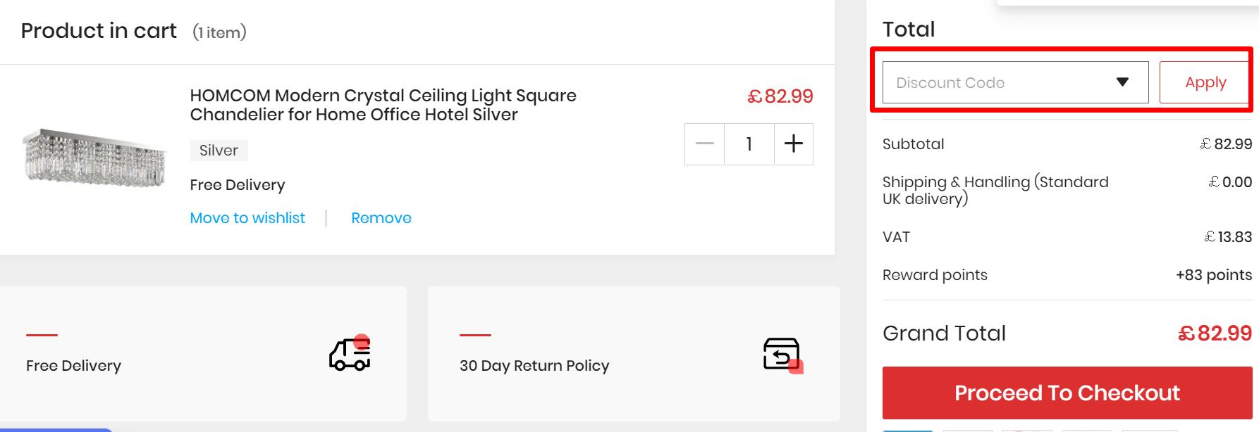 How do I use my Aosom discount code?