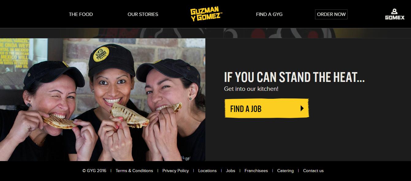 Guzman y Gomez Homepage