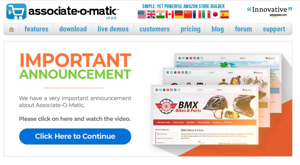 Associate-O-Matic Homepage