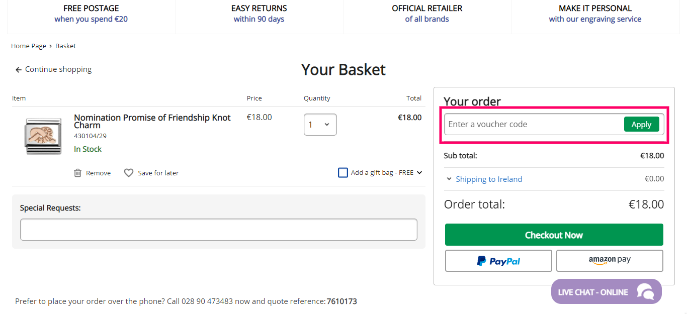 How to useArgento Voucher code