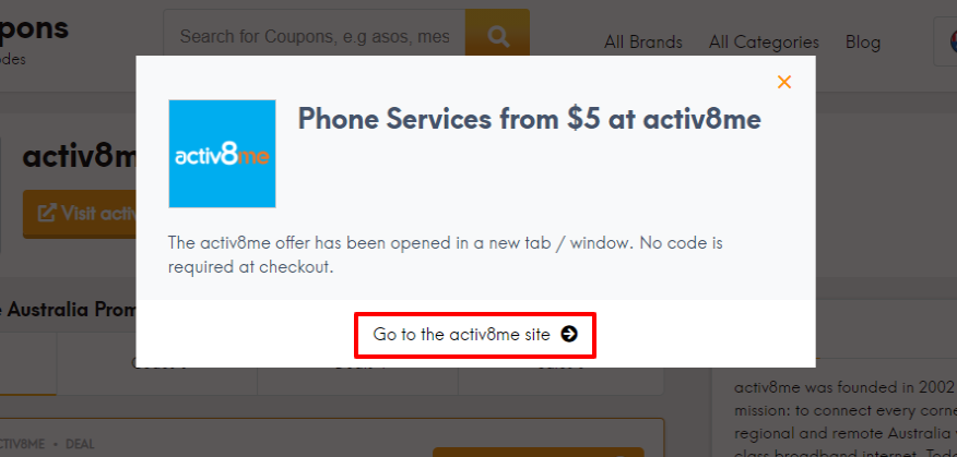 How do I use my activ8me offer?