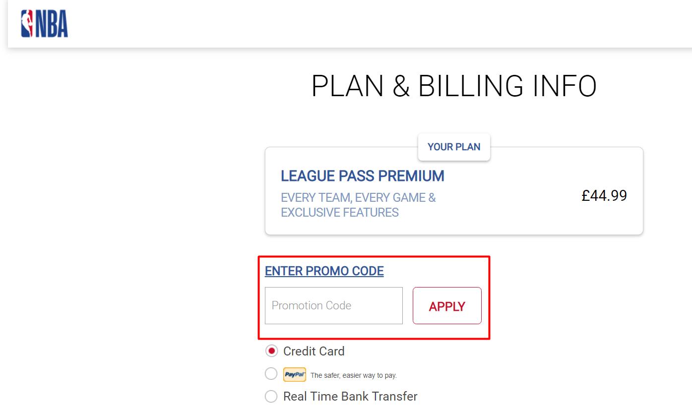 How do I use my NBA League Pass discount code?