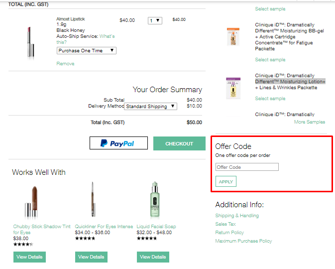 How do I use my Clinique discount code?
