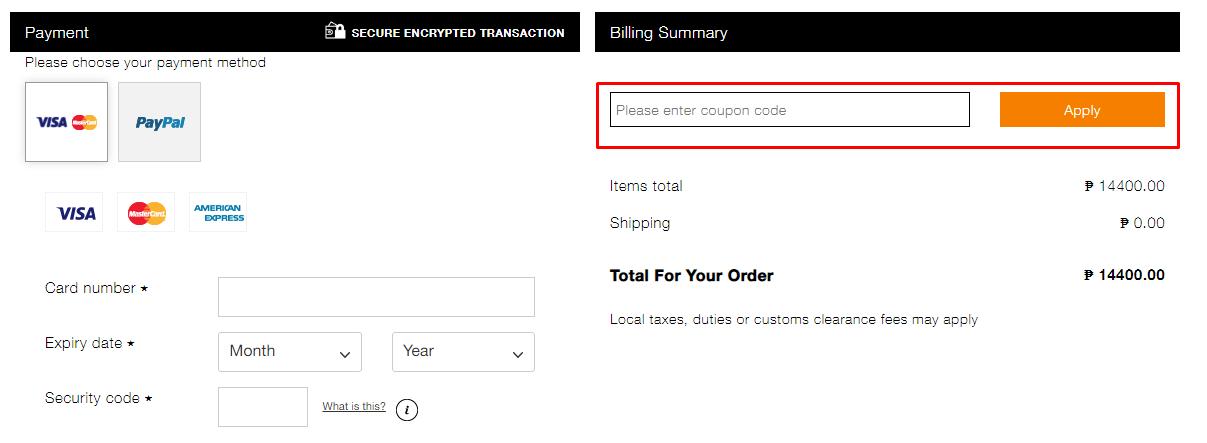 How do I use my BCBGMAXAZRIA coupon code?