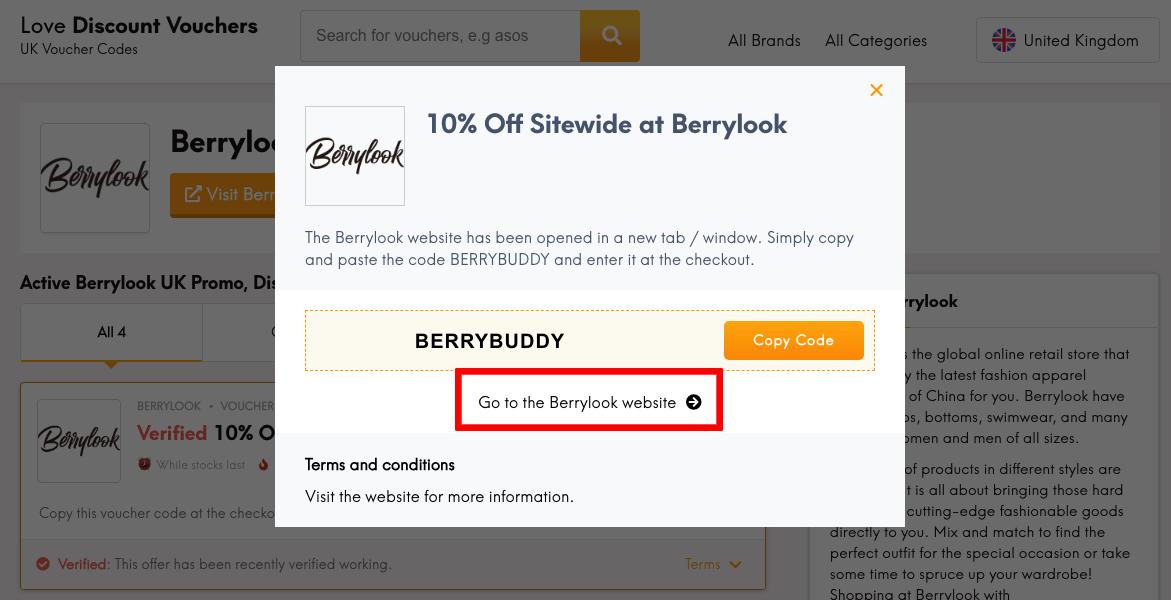 BerryLook UK Get Code
