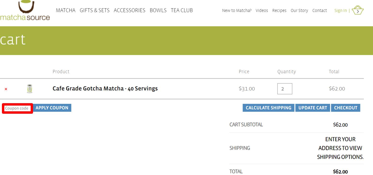 Matcha Source Coupon Code