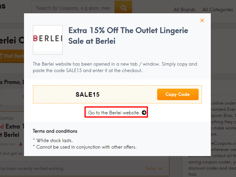 How do I use my Berlei promo code?