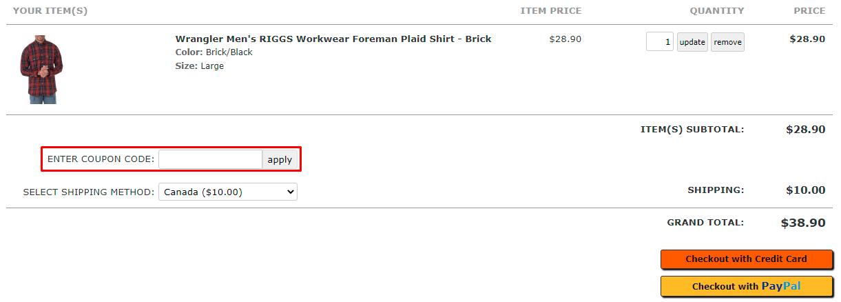 How do I use my Essential Apparel coupon code?