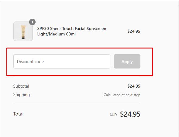 How do I use my Sukin discount code?