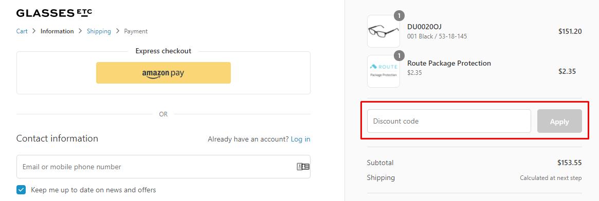 How do I use my GlassesEtc discount code?