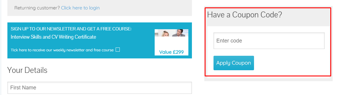 How do I use my New Skills Academy coupon code?