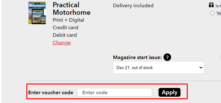 How do I use my Magazines Direct voucher code?
