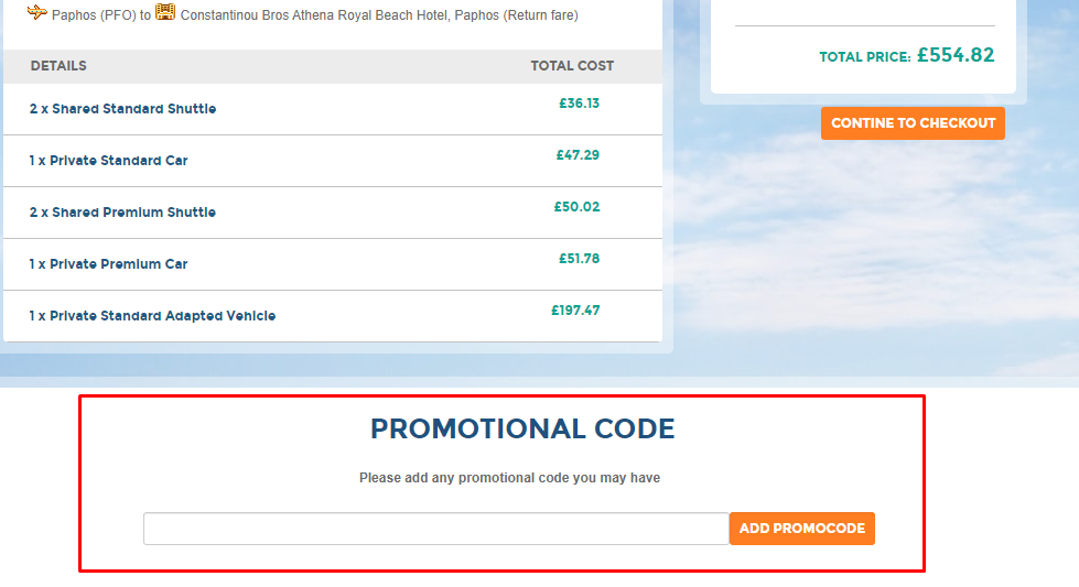 How do I use my Athena Beach Holidays promotional code?