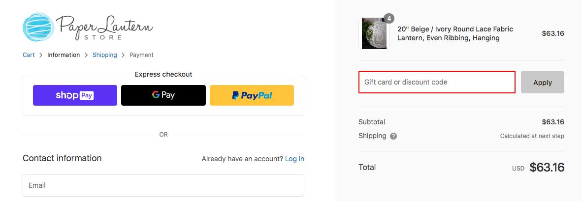 Paper Lantern Discount Code