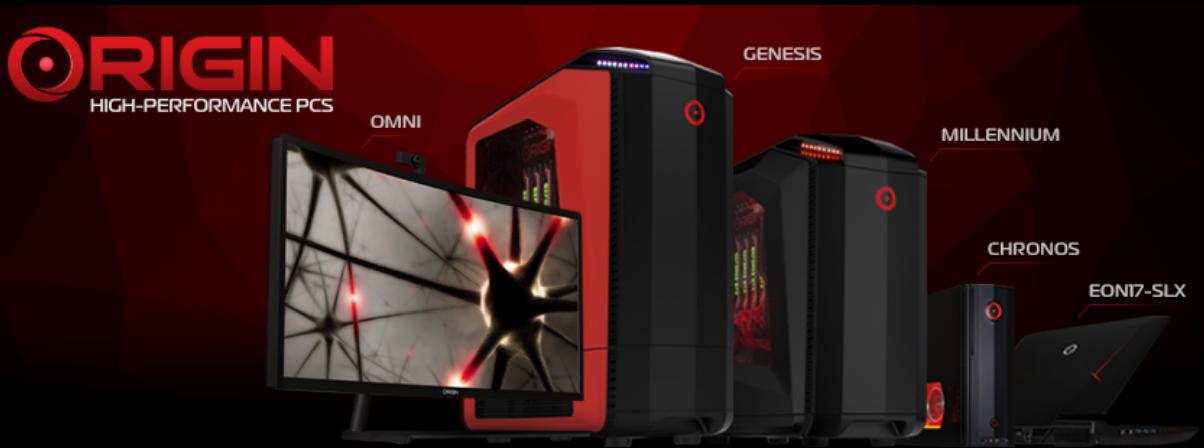 ORIGIN PC Homepage