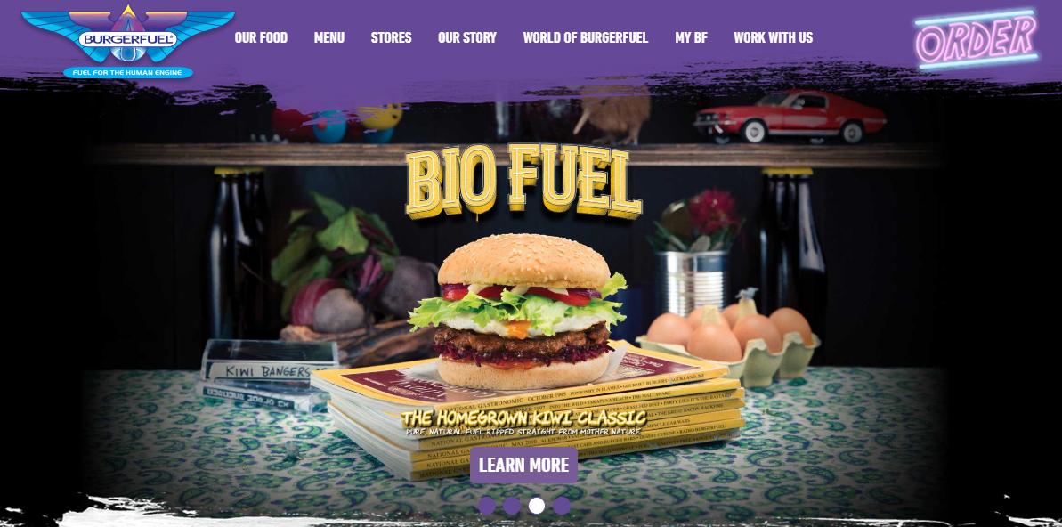 BurgerFuel Homepage