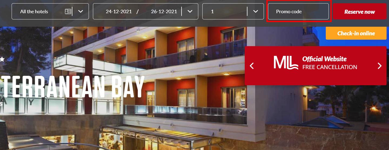 How do I use my MLL Hotels promo code?