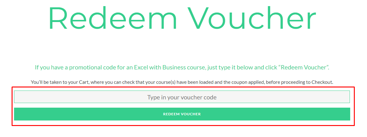 How do I use my Excel With Business discount code?