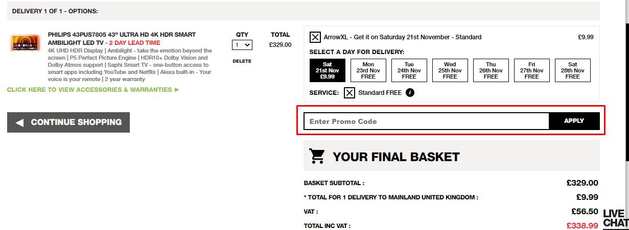 How do I use my Box.co.uk promo code?
