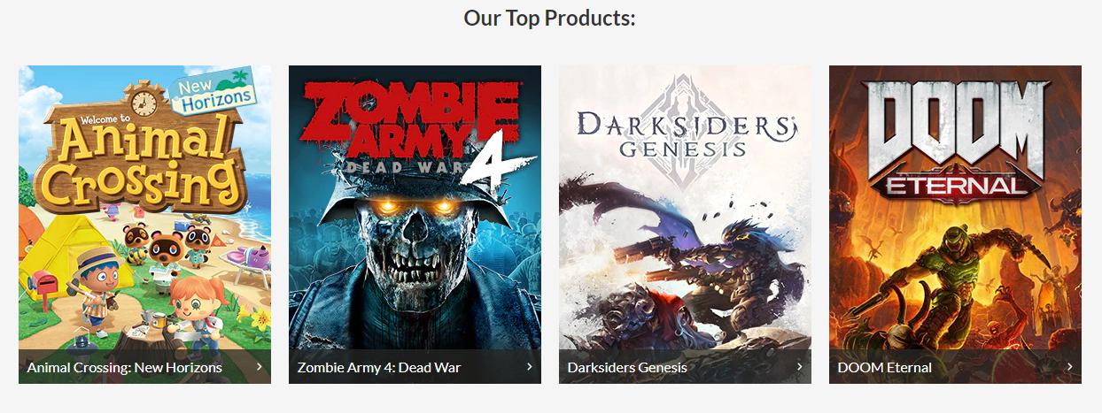 NZGameShop Top Products