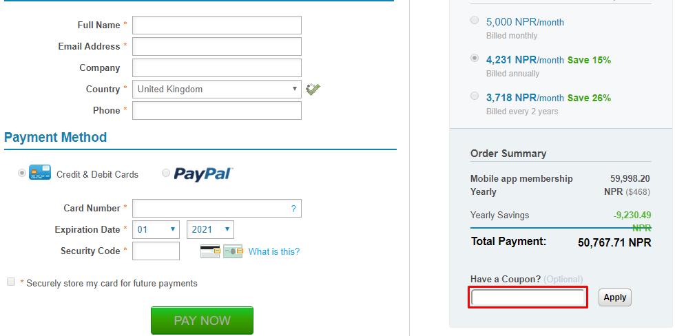 How do I use my Swiftic coupon code?