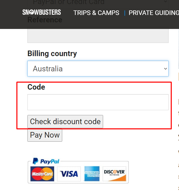 How do I use my Snowbusters discount code?