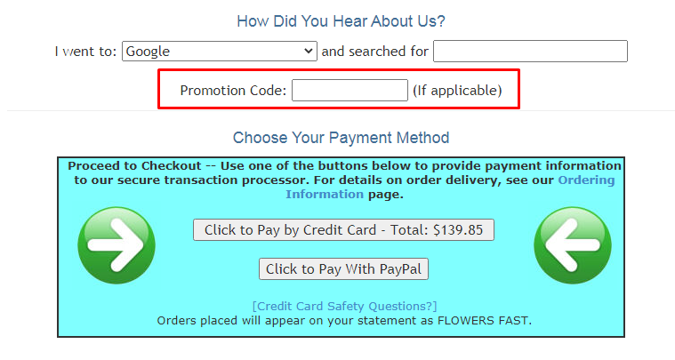 How do I use my Flowers Fast promotion code?