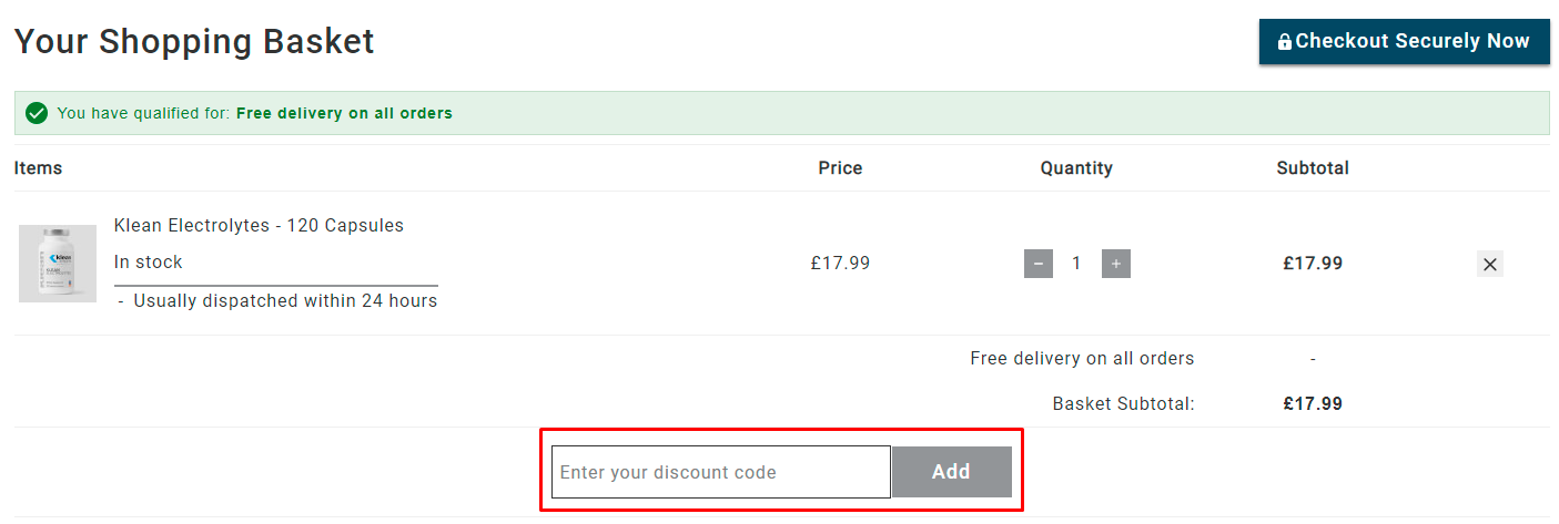 How do I use my Klean Athlete discount code?