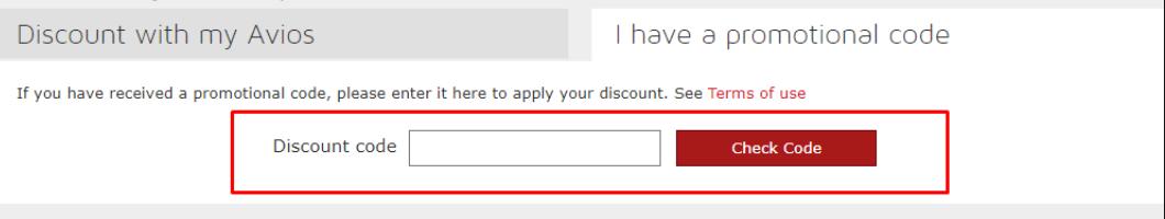 How do use my IBERIA discount code?